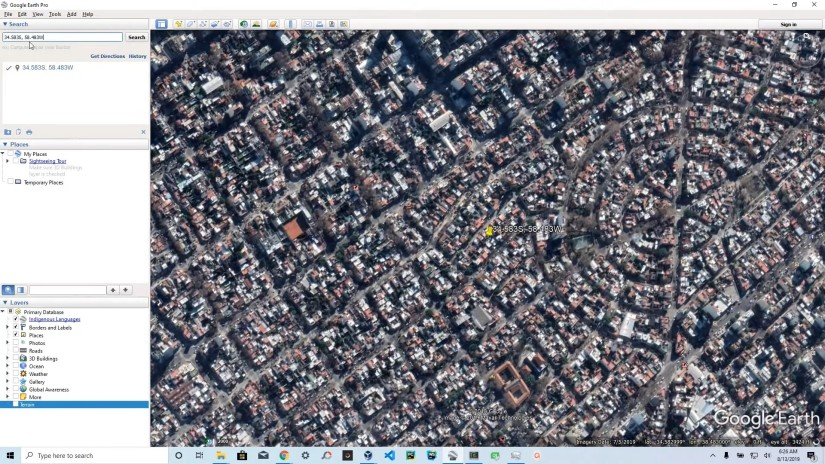 Buenos Aires, urban location